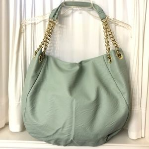 Handbags - Large Hobo Purse in Beautiful Mint Green